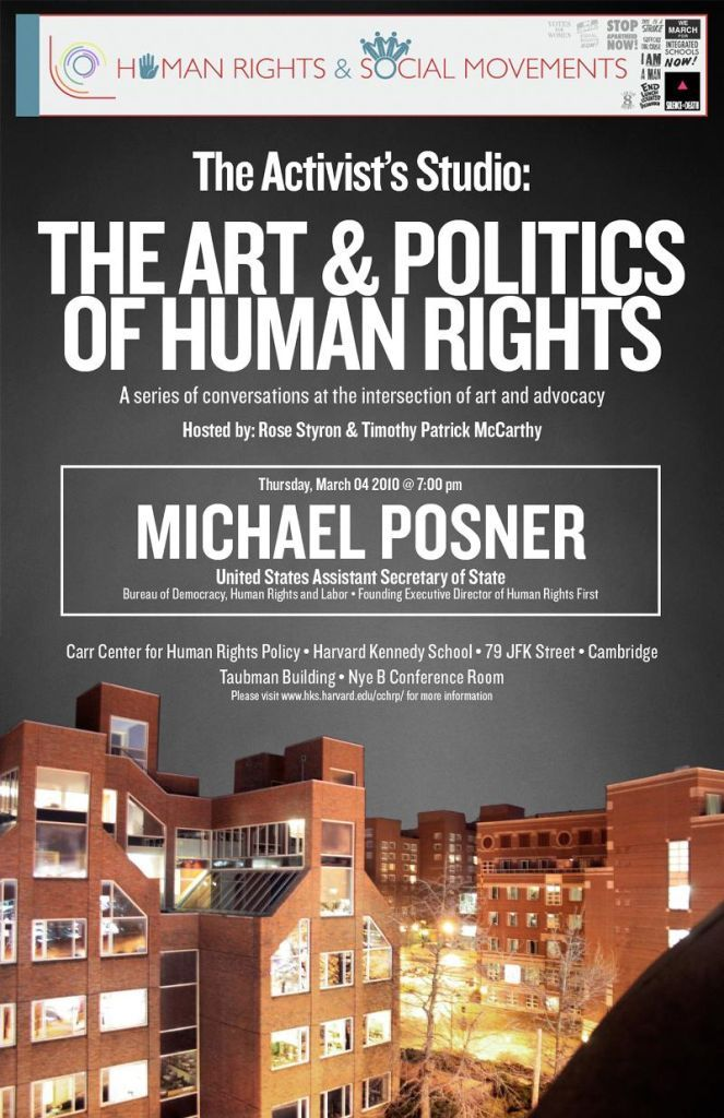 Michael Posner at Carr Center March 4