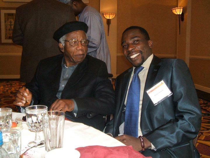 Aminu Gamawa with Chinua Achebe