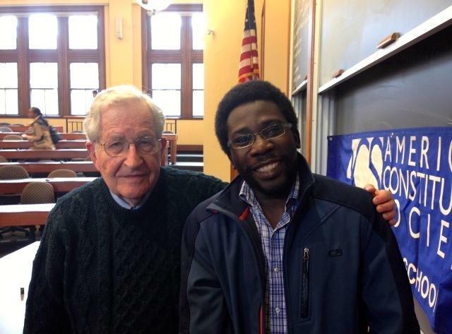 Aminu Gamaw and Noam Chomsky