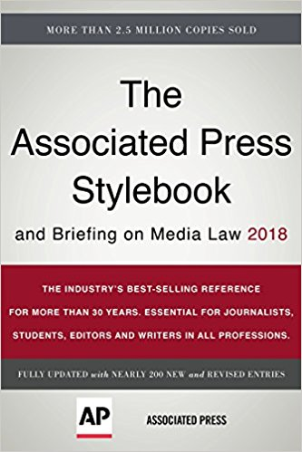 AP Stylebook 2018