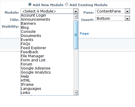 A Scary DotNetNuke Menu with Many, Many Options