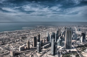 The view from the Burj Khalifa, the world's tallest man-made structure