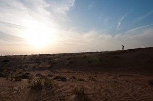 Taking a break from the desert safari through the sand dunes outside Dubai