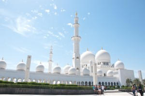 Visiting the Sheikh Zayed Mosque in Abu Dhabi, which honors the popular founder of the UAE