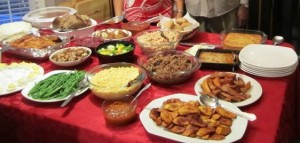 My family's Thanksgiving feast from last year.
