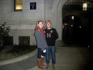 Rachel and I in front of Yale's Silliman College