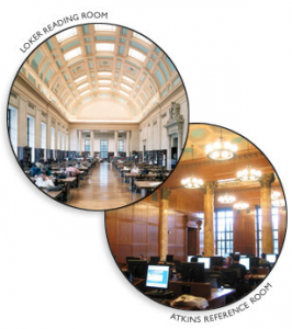 The Loker Reading Room and the Atkins Reference Room