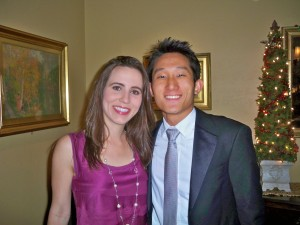 Marianna and I before the Five House Formal!