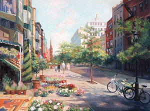 Newbury Street Boston by Celia Judge
