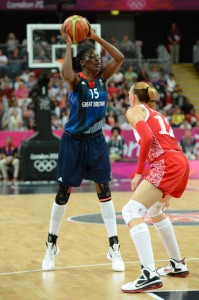 Temi Fagbenle '15 competed for Great Britain's women's basketball team
