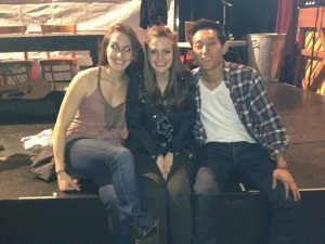 Here's me and two of my friends, Mel and Yasmeen, who stole the show in RENT!