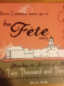 Fete Invitation