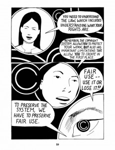 Keith Aoki, James Boyle, and Jennifer Jenkins, 2006, Bound by Law?, p.59.  Available at http://web.law.duke.edu/cspd/comics/