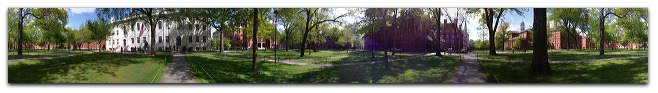 Pano of Harvard Yard
