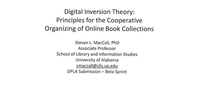 Digital Inversion Theory: Principles for the Cooperative Organizing of Online Book Collections