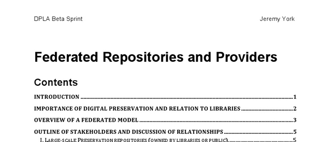 Federated Repositories and Providers