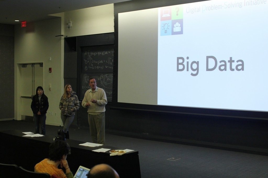 Professor Waldo and team members present their Big Data team updates.