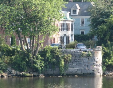 former Burr Bridge abutment at the end of Washington Ave., Schenectady