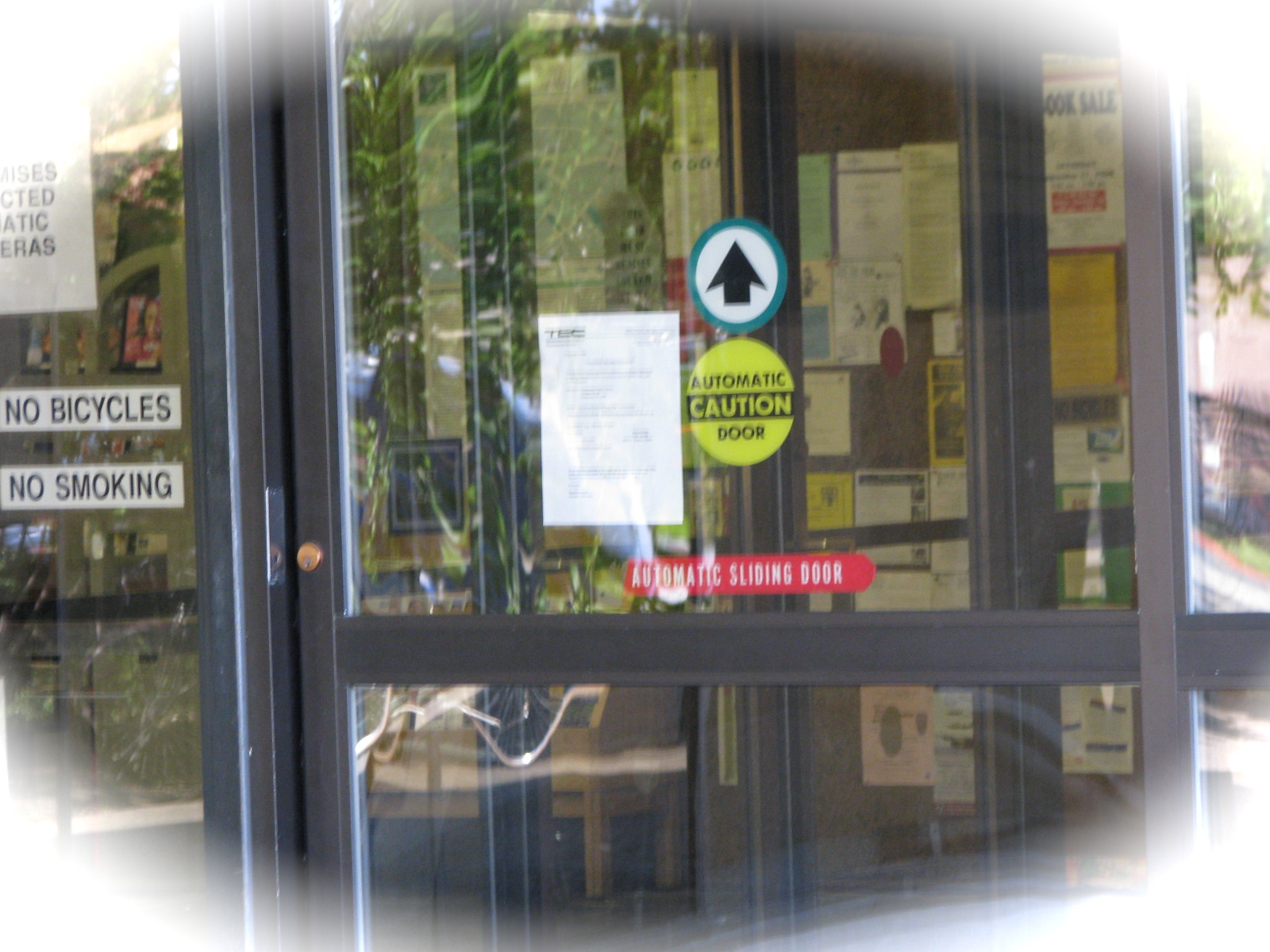 Automatic Doors Make Terrible Bulletin Boards With Sequel Added