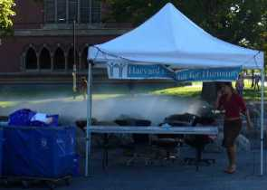 Habitat for Humanity book sale tent.