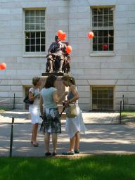 John Harvard decked out for company