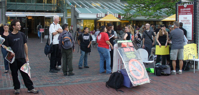 Jena 6 Rally in Harvard Square
