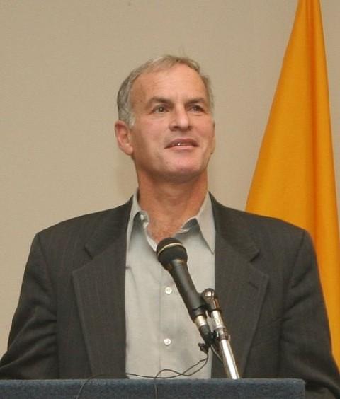 Norman Finkelstein speaking at Suffolk University.