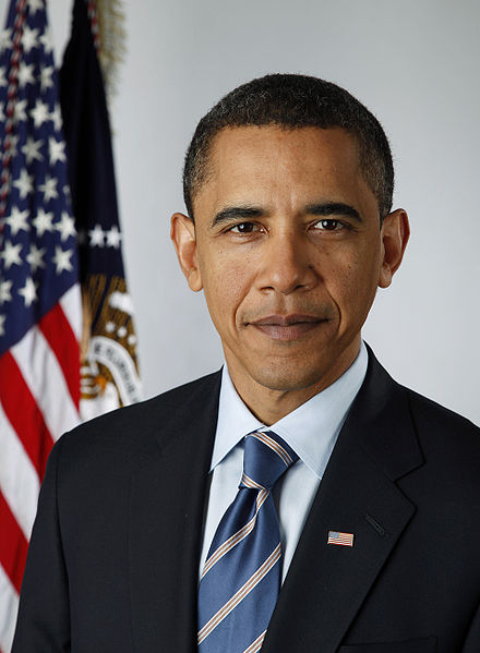 Barak Obama's official White House portrait