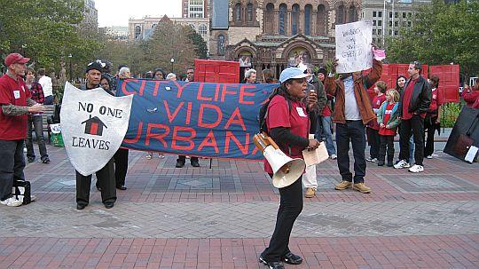 City Life/Vida Urbana at Copley anti banker rally