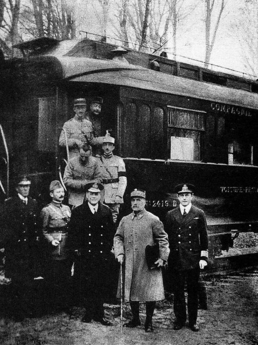 Armistice train 11/11/1918 Compeign Forest essentially ending WWI.