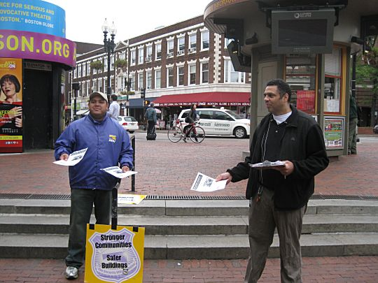 Harvard Security Guard members of SEIU local 615 flyer for their negotiations with their employer.