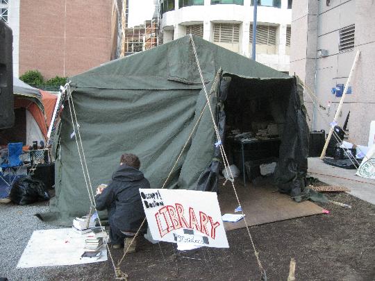 Occupy Boston Library