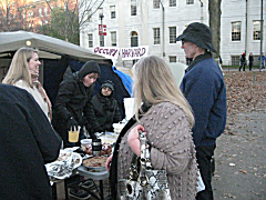 The spread on Thanksgiving/Day of Mourning brought by occupiers and supporters. There was more than one flavor of occu-pie.