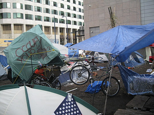 The morning after Menino's planned eviction of Occupy Boston