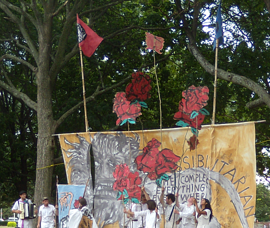 Bread and Roses sketch by Bread and Puppet Theater, Cambrige Common, Sept 2,2012