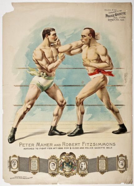 Maher Fitzsimmons fight