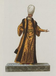 Color engraving of Commander of the Janissaries