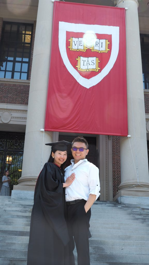 Me, my husband, Harvard