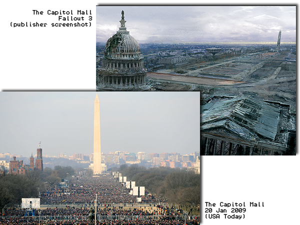 The Mall in Fallout and in real life