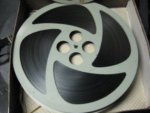 A reel of film from the Burr Collection