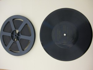 8mm film with sound on disc