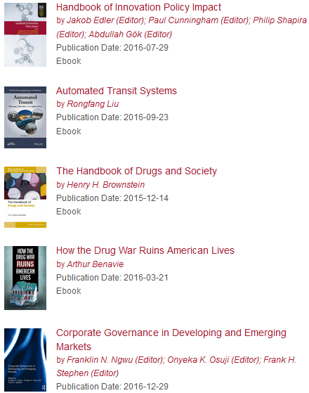 new ebooks at HKS Library