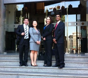 Chile Team - On the Steps of the Ministry of Justice