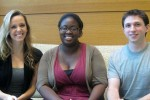 Brittany Horth, Ladum Omideyi, and Mike Werner