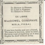 An example bookplate from the Prescott collection