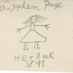 Some bookplates are rather more home-made than others, including this from Adelaide Helen Page