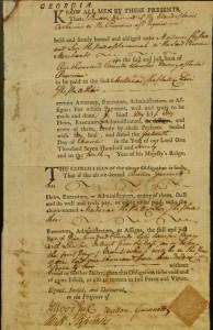 Button Gwinnett bond, MS Am 1649.3 (12)