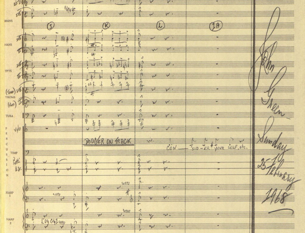 "Score for ""Consider Yourself"" from Oliver! MS Thr 569 (944)"