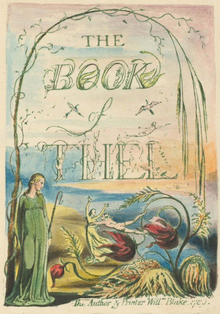 William Blake, Book of Thel. Lowell EC75.B5815.793va
