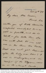 MS Am 1834 (99). Theodore Roosevelt Collection, Houghton Library.
